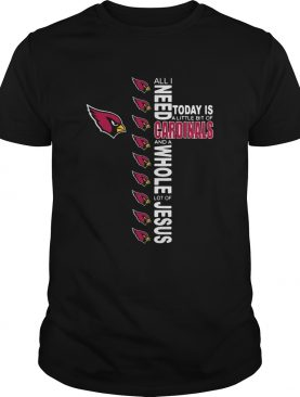 All I Need Today Is A Little Of Arizona Cardinals And A Whole Lot Of J shirt