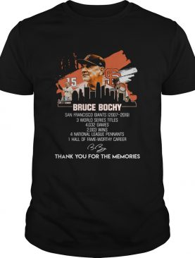 Bruce Bochy San Francisco Giants thank you for the memories shirt