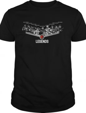 Calgary Flames Legends team signature shirt