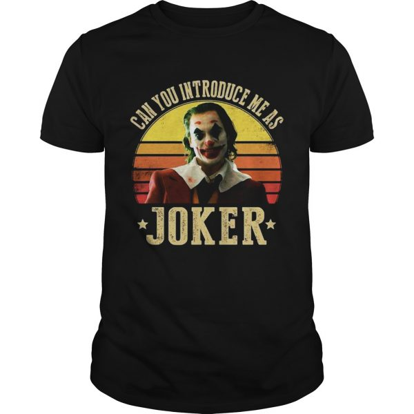Can you introduce me as Joker retro sunset  Unisex