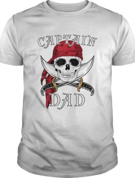 Captain Dad Funny Halloween Pirate Skull Gift shirt