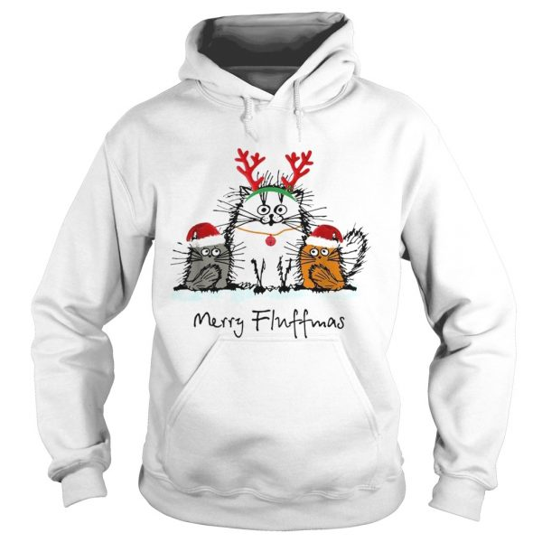 Cats merry fluffmas Christmas  Hoodie