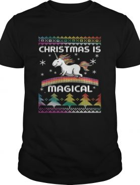 Christmas is Magical Funny Unicorn Xmas Shirt