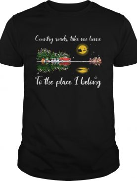 Country roads take me home Guitar lake Christmas shirt