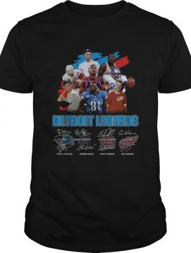 Detroit Legends team player signatures shirt