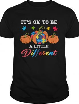 Halloween Autism Pumpkin Its OK to be a little different TShirt