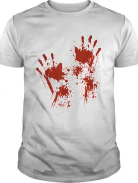 Halloween Blood Hands Costume Zombie Outfit shirt