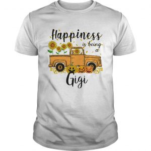 Halloween Car Pumpkin Happiness Is Being A Gigi TShirt Unisex