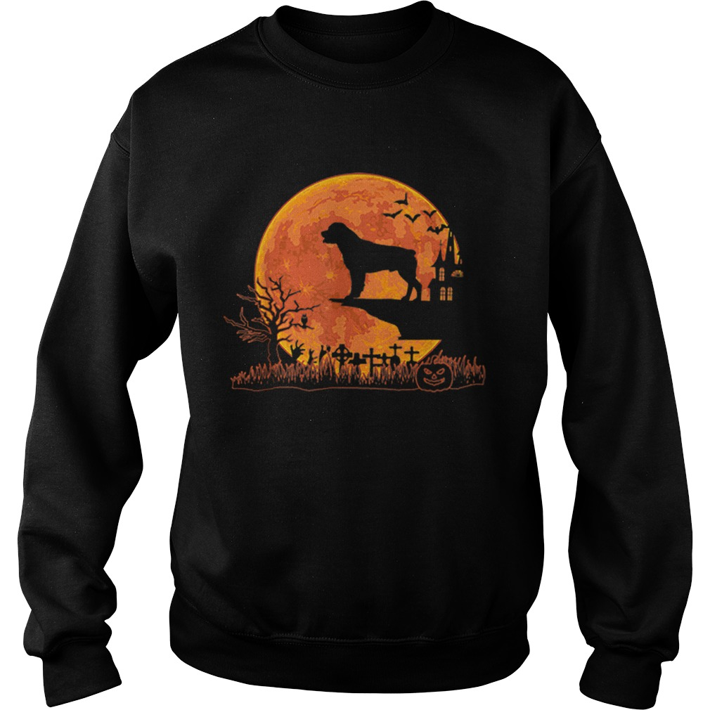 Halloween Rottweiler Dog Moon Costume Gift  Sweatshirt