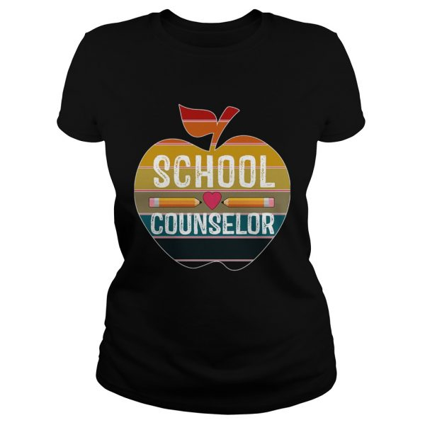 Happy First Day School Counselor Vintage TShirt Classic Ladies