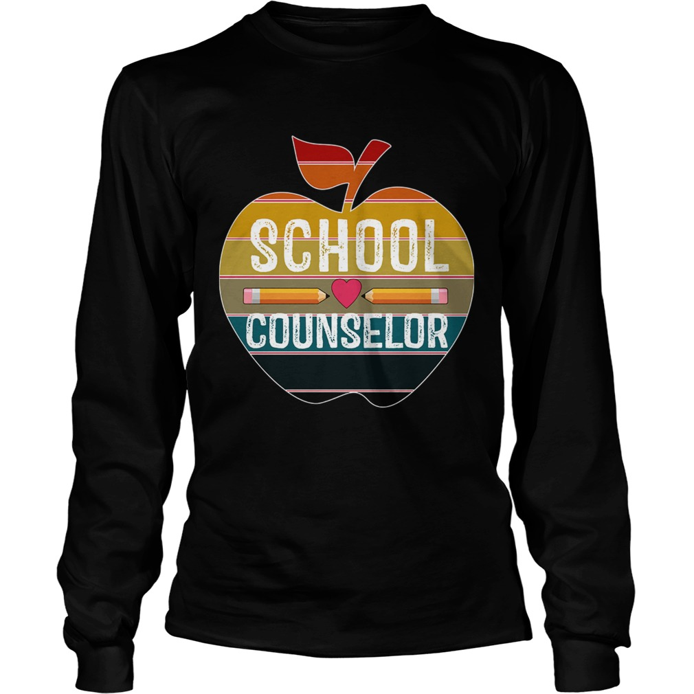 Happy First Day School Counselor Vintage TShirt LongSleeve