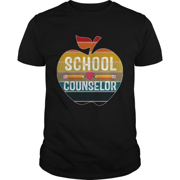 Happy First Day School Counselor Vintage TShirt Unisex