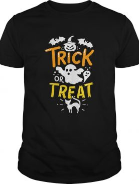 Happy Halloween Trick Or Treat Party Ghost Bat shirt