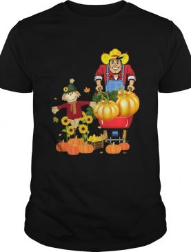 Happy Harvest Scarecrow Pumpkin Patch Novelty TShirt