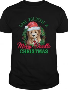 Have Yourself A Merry Doodle Christmas Goldendoodle Dog Love TShirt