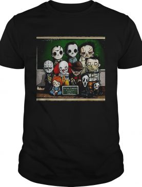 Horror Movie characters students in class shirt