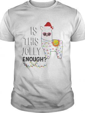 Llama is this jolly enough Christmas lights shirt