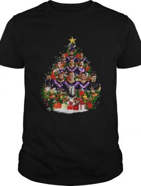 Melbourne Storm team players Christmas tree shirt