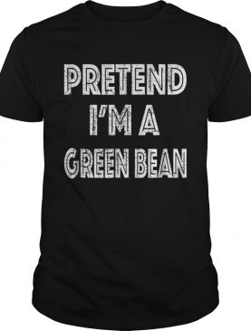 Official Retro Pretend Im a Green Bean Halloween Costume shirt