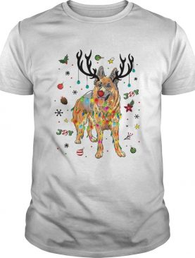 Old German Shepherd Dog Reindeer Christmas Joy shirt