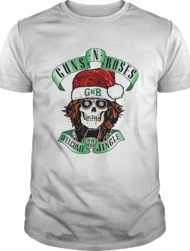 Skull Santa Guns N Roses GNR welcome to the Jingle shirt