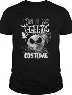 This is my scary costume halloween Jack Skellington shirt