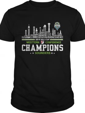 2019 MLS Cup Western Conference Champions Sounders building shirt
