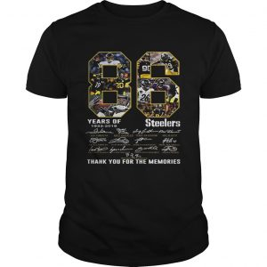 86 Years Of Pittsburgh Steelers 19332019 signatures  Unisex