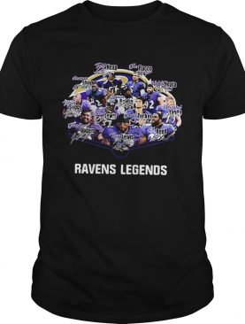 Baltimore Ravens Terrell Suggs Ray Lewis Ed Reed Joe Flacco Legends Signatures shirt
