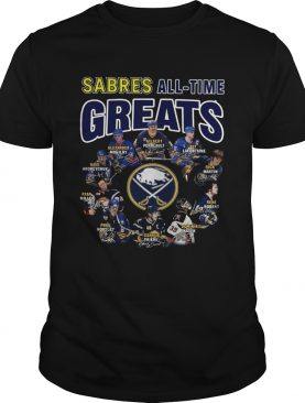 Buffalo Sabres all time great players signatures shirt