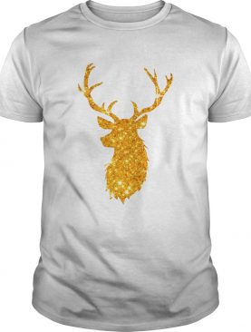 Gold Golden Reindeer Christmas Holiday shirt