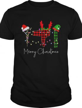 Hair Stylist Elf merry christmas shirt