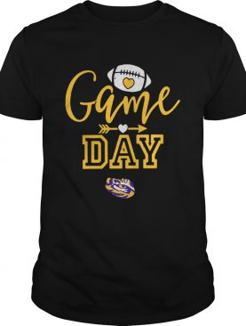 LSU Tigers Game Day Football Heart shirt