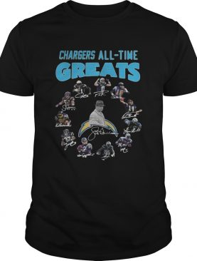 Los Angeles Chargers Players All Time Greats Signatures shirt