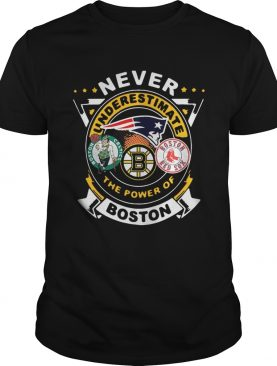 Never Underestimate The Power Of Boston Red Sox Boston Celtics Boston Bruins shirt