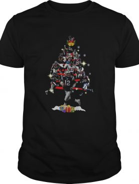 New England Patriots Players Christmas Tree shirt