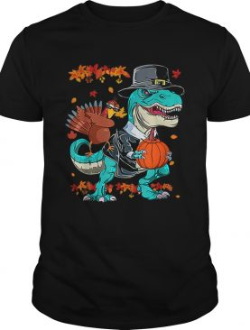Original Thanksgiving TRex Dinosaur Dabbing Turkey Funny Gift Boy shirt