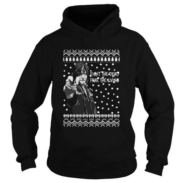 The Walking Dead Daryl Dixon Fight The Dead Fear The Living Christmas  Hoodie