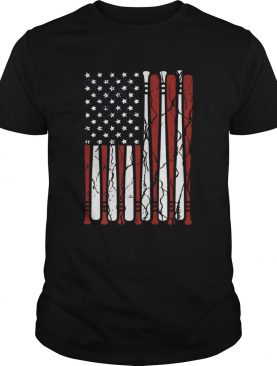 American Flag baseball bat 4th Of July shirt