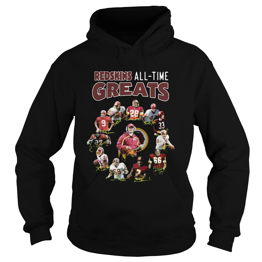 Washington Redskins Alltime Greats Players Signatures  Hoodie