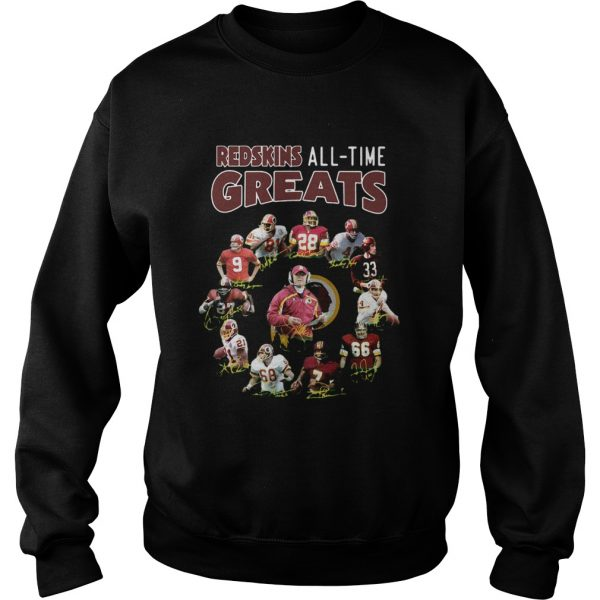 Washington Redskins Alltime Greats Players Signatures  Sweatshirt
