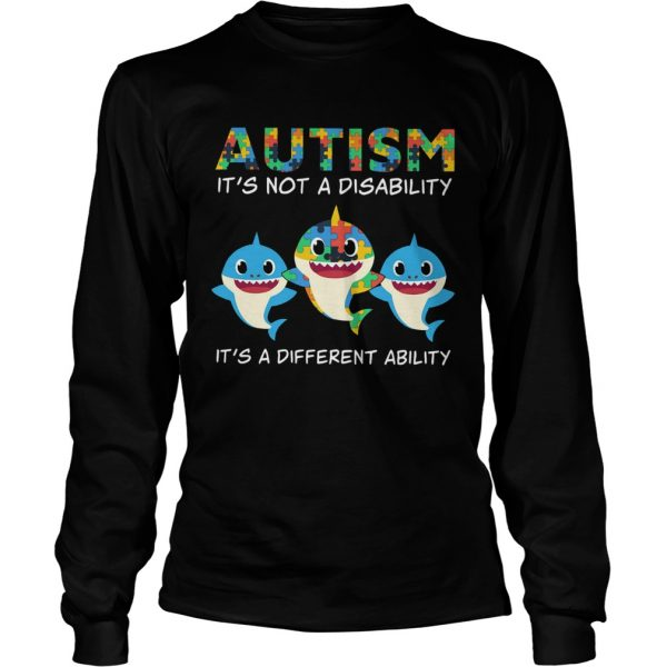 Baby Sharks Autism its not a disability its a different ability  LongSleeve