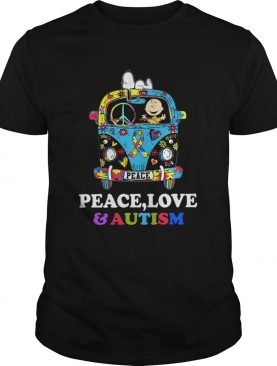 Snoopy And Charlie Brown Peace Love Autism shirt