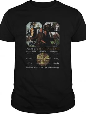 06 Years Of Outlander 2014 2020 Signatures shirt
