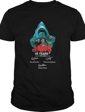 45 years of Jaws 1975 2020 signatures shirt