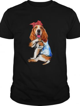 Dog Basset Hound I Love Mom shirt