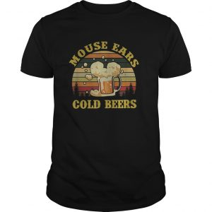 Mouse Ears Cold Beers Drinking Vintage  Unisex