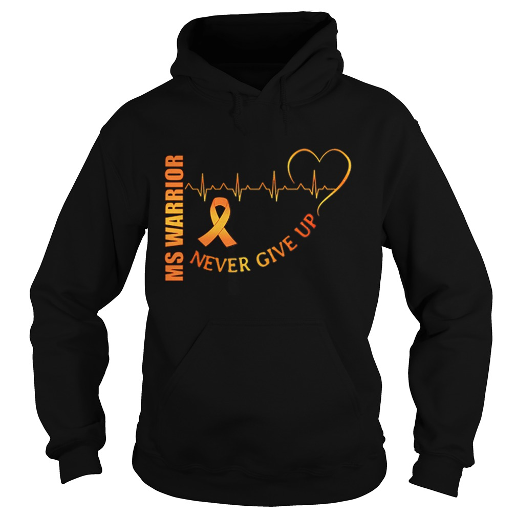 Ms Warrior Cancer never give up heartbeat  Hoodie