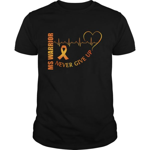 Ms Warrior Cancer never give up heartbeat  Unisex