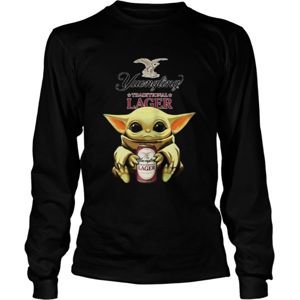 Baby Yoda Hug Yuengling Lager Beer Star Wars  Long Sleeve